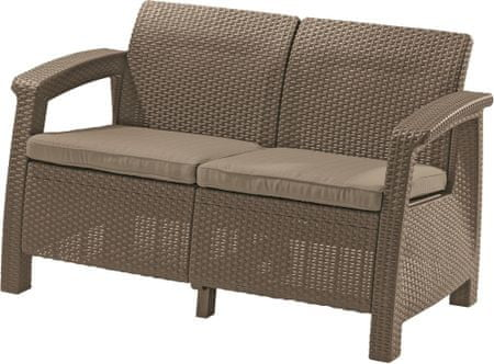 Allibert CORFU LOVE SEAT cappucino kerti szék