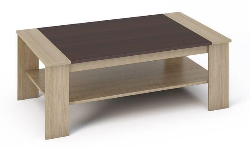 BEERN konferenční stolek, dub sonoma/wenge