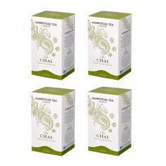 Hampstead Tea London BIO Chai zelený detoxikační čaj sorientálním kořením 20ks x 4