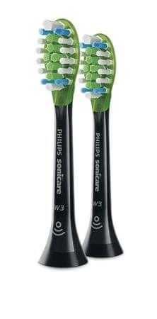 Philips nastavki za električno zobno ščetko Sonicare W3 Premium White HX9062/33, 2 kosa
