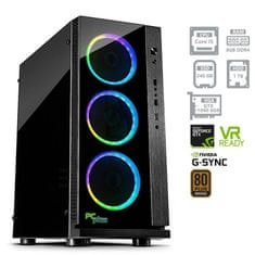 PCplus namizni računalnik Gamer i5-8400/8GB/240GB+1TB/GTX1060/FreeDOS (137064)