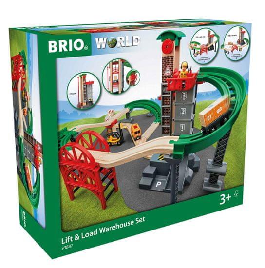 Brio World 33887 Kolejka z urządzeniem do podnoszenia i ładowania