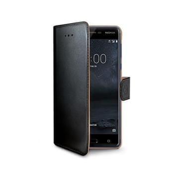 Nokia Púzdro typu kniha CELLY Wally pre Nokia 5, PU koža, čierne