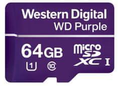 Western Digital spominska kartica microSD 64GB Purple