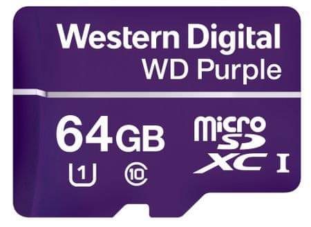 WD spominska kartica microSD 64GB Purple