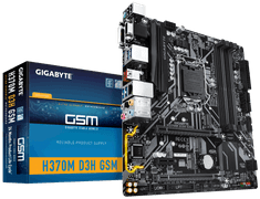 Gigabyte osnovna plošča H370M D3H GSM, DDR4, USB3.1 Gen2, LGA1151, mATX