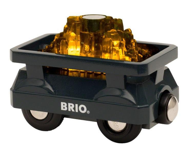 Brio World 33896 Svítící vagón se zlatem