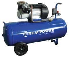REM POWER batni kompresor EV 380/8/100, 230 V + 4 delni pnevmatski set