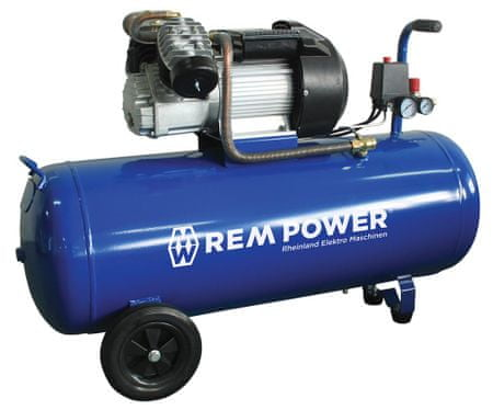 REM POWER batni kompresor EV 380/8/100, 230 V + 4 delni pnevmatski set