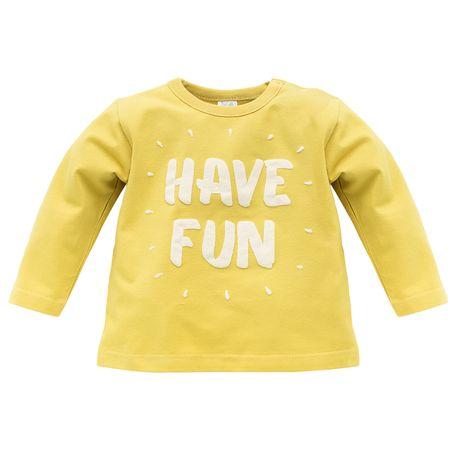 PINOKIO Chlapecké tričko Funny dog 68 žlutá