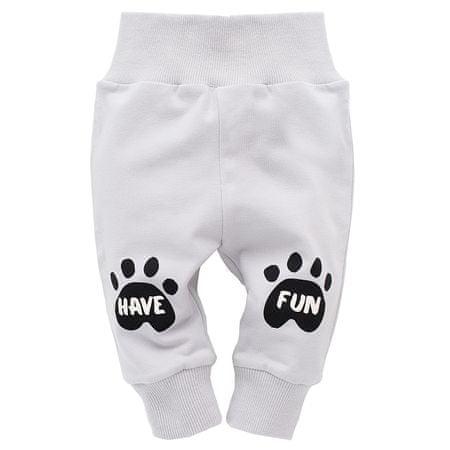 PINOKIO Spodnie dresowe chłopięce Funny Dog 62 szary