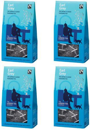 London Tea Company Fairtrade černý čaj pyramidový London Breakfast 15ks x 4
