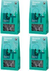 London Tea Company Fairtrade zelený čaj pyramidový Gunpowder s marockou mátou 15ks x4