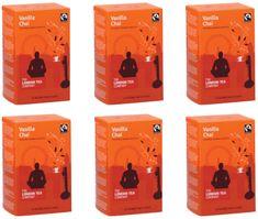 London Tea Company Fairtrade čierny čaj pyramídový vanilka s orientálnym korením Vanilla Chai 15ks x 4