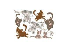 Dimex Dekoračné nálepky na stenu Mačky - 50 x 70 cm