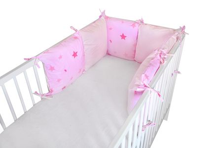 COSING Ochraniacz do łóżeczka różowy