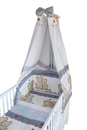 COSING 4-delni set posteljnine Comfort - dva medveda, siva