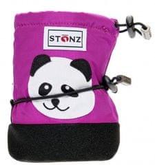Stonz Dívčí nepromokavé capáčky/návleky/sněhule Panda - růžové