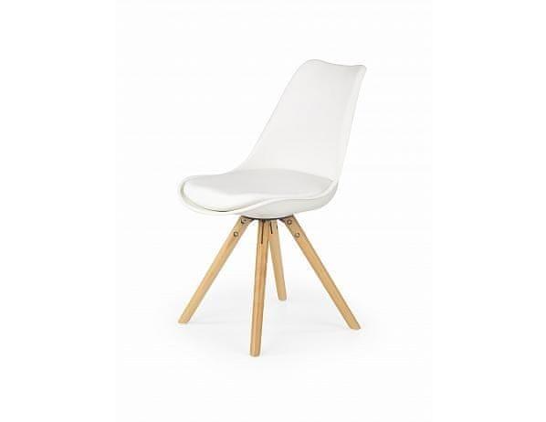 Jídelní židle K201, bílá