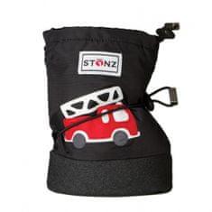 Stonz Chlapecké nepromokavé capáčky/návleky/sněhule s hasičským autem Infant - černé