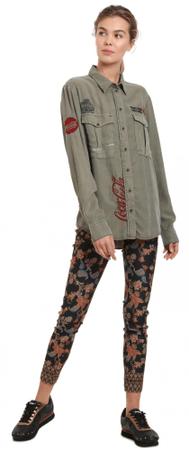 Desigual ženska košulja Coca-Cola, XL, kaki