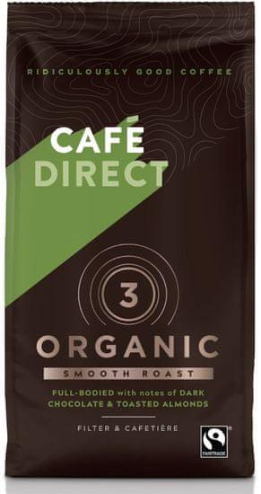 Cafédirect BIO Organic Smooth kawa mielona z nutami prażonych migdałów, 227g, 85% Arabica, 15% Robusta