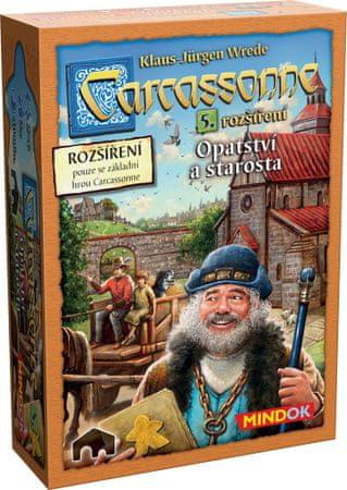 Mindok Gra Carcassonne- Opactwo i Burmistrz