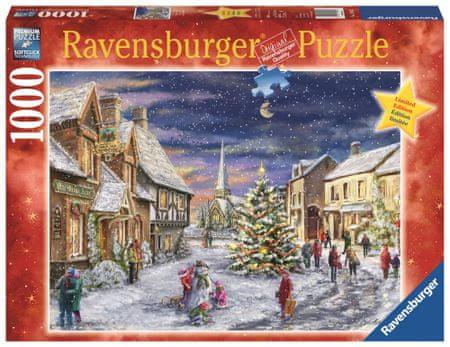 Ravensburger sestavljanka božične vasi, 1000 kosov