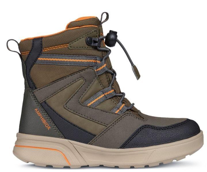 Geox chlapecké zimní boty Sveggen 32 hnědá