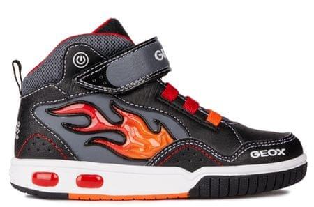 Geox buty za kostkę chłopięce Gregg 24 czarny/czerwony