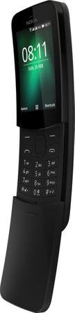 Nokia 8110 4G mobiltelefon, Dual SIM, fekete
