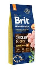 Brit hrana za mlade pse Premium by Nature Junior M, 15 kg