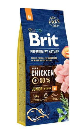 Brit hrana za mlade pse Premium by Nature Junior M, 15 kg