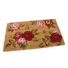FLOMA Kokosová vstupní rohož Roses - 60 x 35 x 1,7 cm