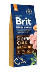 Brit hrana za odrasle pse Premium by Nature Adult M, 15 kg