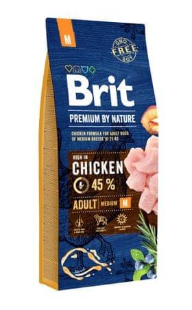 Brit hrana za odrasle pse Premium by Nature Adult M, 15 kg