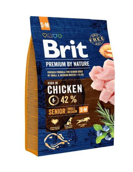 Brit hrana za pse Premium by Nature Senior, S/M, 3 kg