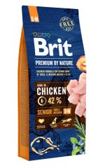 Brit hrana za pse Premium by Nature Senior S+M, 15 kg