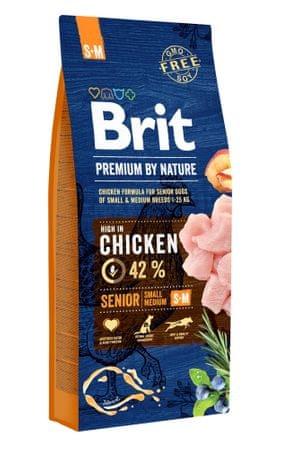 Brit Premium by Nature Senior S+M 15 kg