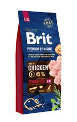 Brit hrana za pse Premium by Nature Senior L+XL, 15 kg