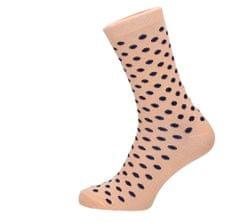 ROSENBULL Veselé ponožky- puntíkované béžové