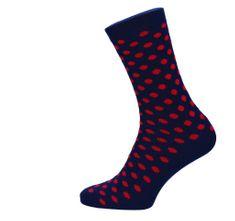 ROSENBULL Veselé ponožky- puntíkované - červeno modré