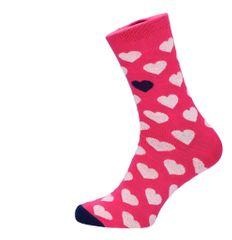 ROSENBULL Veselé ponožky- Srdíčka růžové