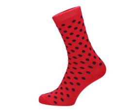 ROSENBULL Veselé ponožky- puntíkované - červené
