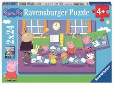 Ravensburger sestavljanka Pujsa Pepa slika, 2x24 kosov
