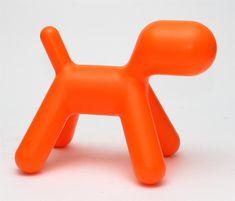 Mørtens Furniture Stolička pro děti Pejsek, 70 cm, oranžová