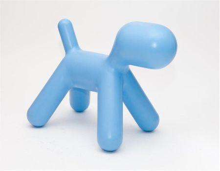 Mørtens Furniture Stolička pro děti Pejsek, 70 cm, modrá