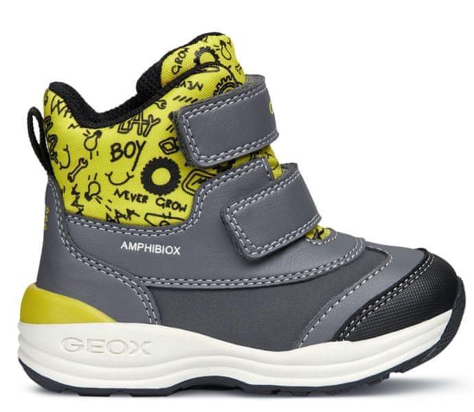 Geox chlapecké zimní boty New Gulp 23 šedá 002a872c02