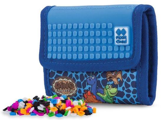 Pixie Crew Dino pixelová peňaženka modrá