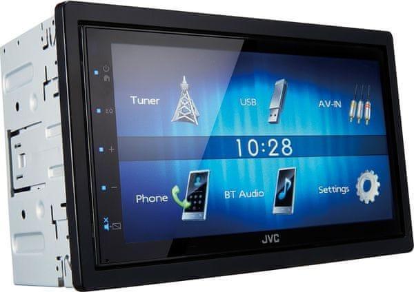 JVC KW-M24BT autórádió USB hands-free MOS-FET erősítő K2 technológia